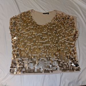 Apt 9 chunky sequin top. Size 12